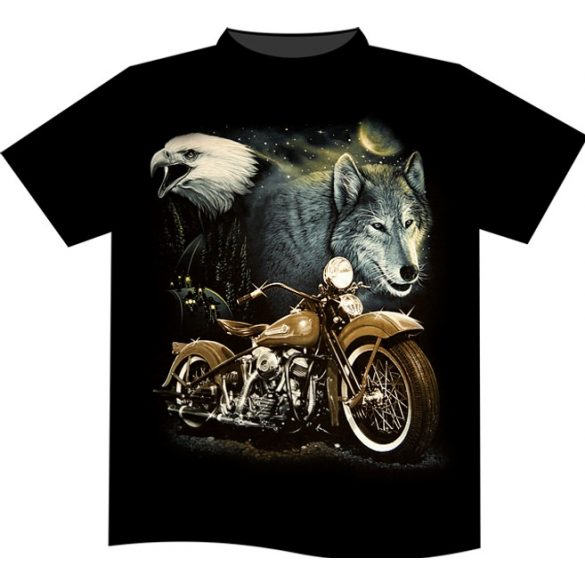 Live To Ride Wolf T-shirt
