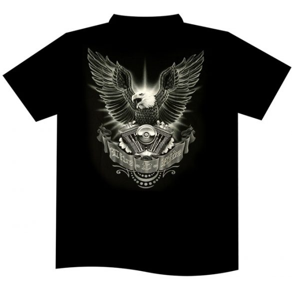 Live To Ride Eagle T-shirt