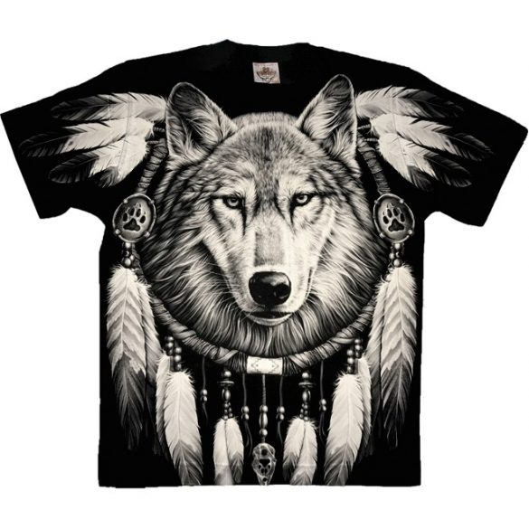Wolf and Dreamcatcher póló