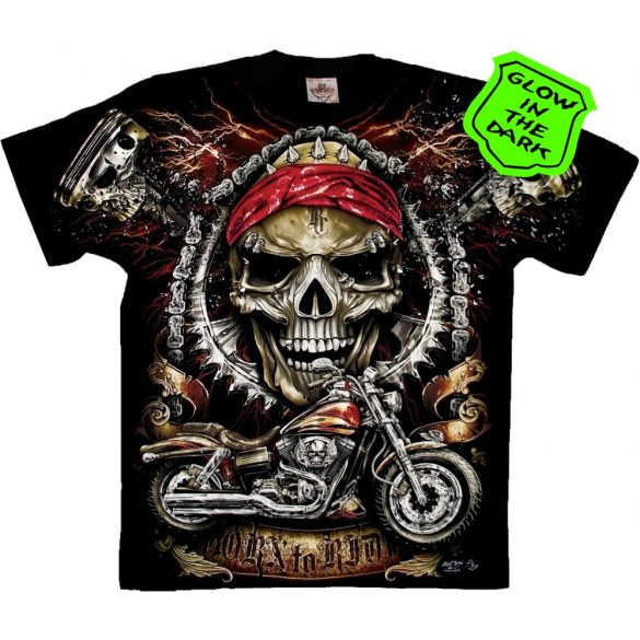 Born To Ride Skull T-shirt