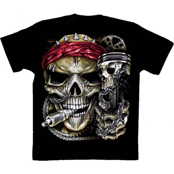 Born To Ride Skull póló