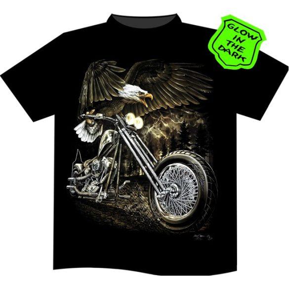 Biker Eagle póló