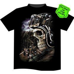 Skeleton Biker póló