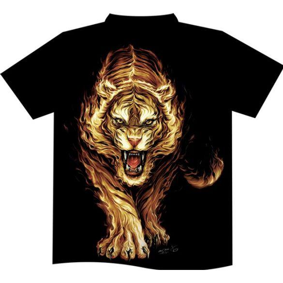 Flaming Tiger póló