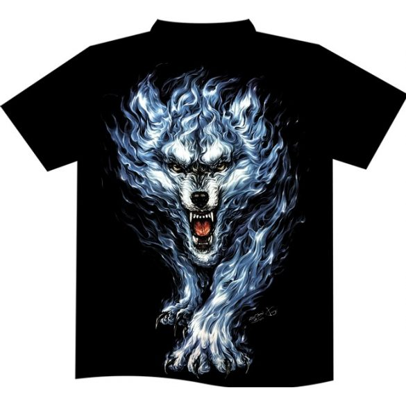 Flaming Wolf T-shirt