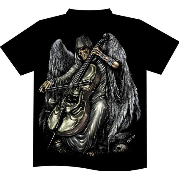 Skeleton Musician póló