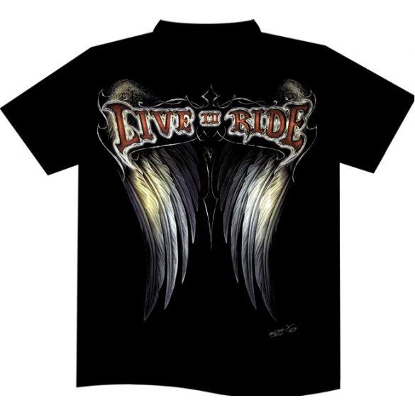 Live To Ride Wings póló