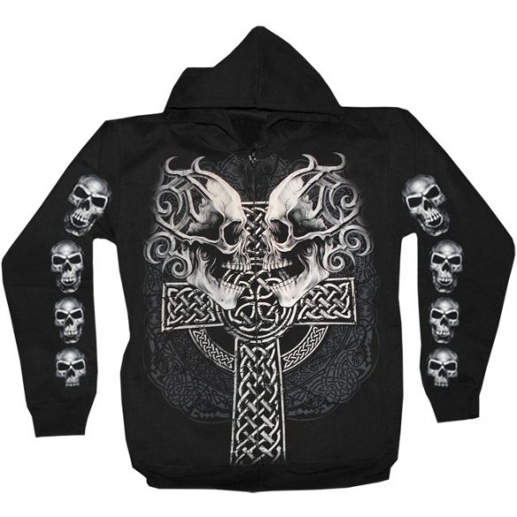 Skulls With Cross pulóver