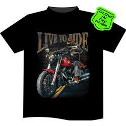 Live To Ride Biker póló