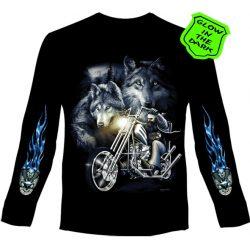 Ride With The Wolves hosszú ujjú póló
