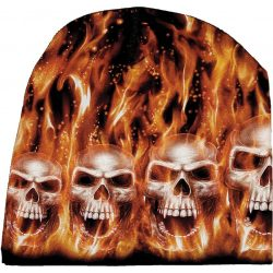 Flaming Skulls sapka