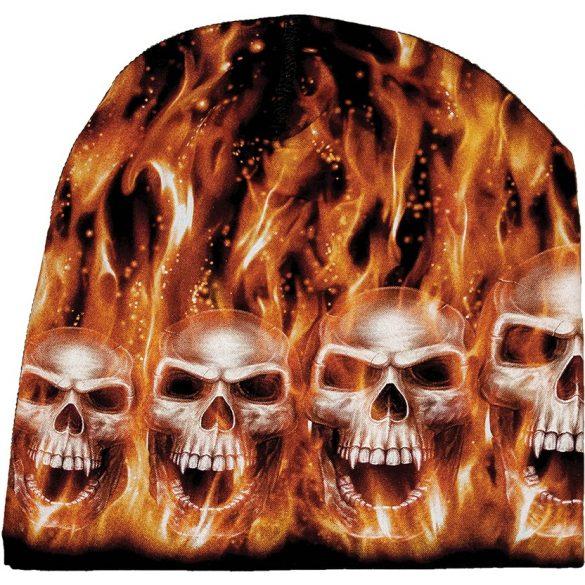 Flaming Skulls sapka