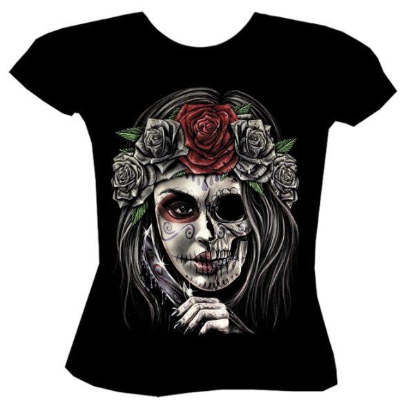 Rose Skull póló